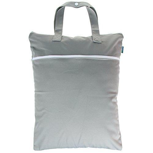 Teamoy Bolso de Cambiador Mochila para Bebé Bolsa Impermeable para Ropa Organizador con dos compartimentos,Gris