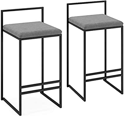 Barst/ühle VASAGLE Barhocker 2er Set dunkelbraun LBC65X Wohnzimmer K/üchenst/ühle im Industrie-Design mit Fu/ßst/ütze Partykeller f/ür K/üche Vintage