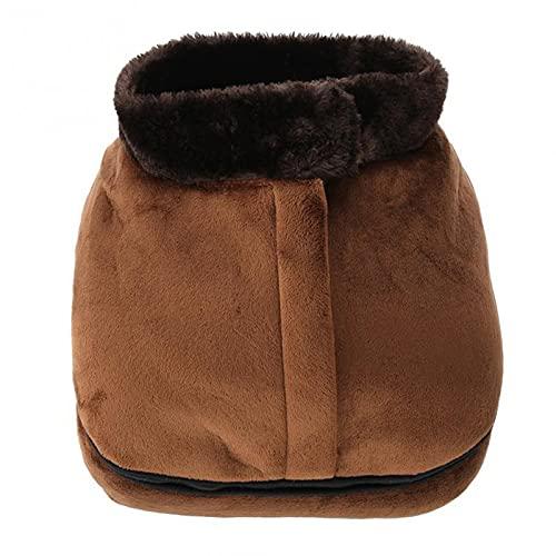 HPRM 2 en 1 Masajeador de Calentadores de pie climatizado eléctrico, pies de Masaje de pies Zapatos de Zapatos calentados, cojín de sofá cálido para la Oficina de Viajes al hogar
