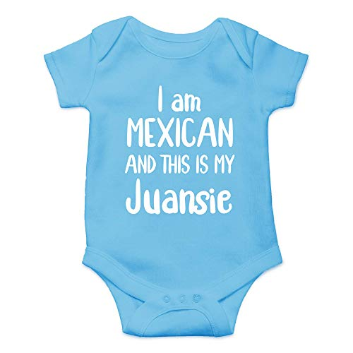 Qian Mu888 I Am Mexican and This is My Juansie – Funny Hispanic Outfts – Lindo body para bebé de una pieza