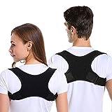 Corrector de Postura Espalda y Hombros Para Hombre y Mujer, Enderezador de Espalda Transpirable Ajustable Aliviar Dolor de Espalda en el Cuello y Mejorar Postura Joroba Espalda Recta Soporte Faja