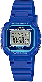 Casio Women's Grey Dial Rubber Band Watch - LA-20WH-2AEF
