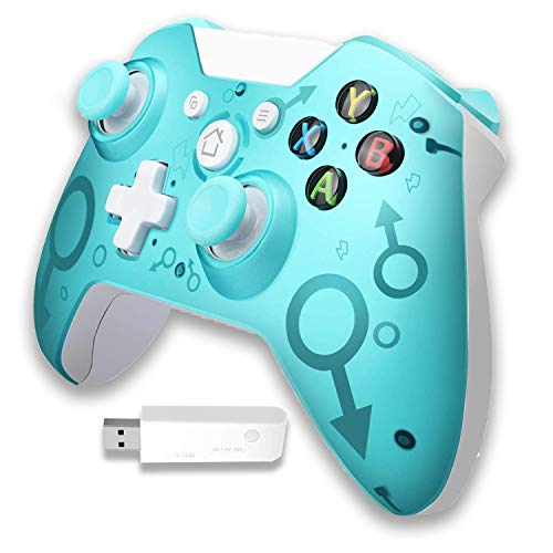 Xbox Wireless Controller[2021 Newest Version] with 2.4GHZ Wireless Adapter, Dual Vibration Gamepad Compatible with Xbox One/One S/One X/PS3/Windows PC 7/8/8.1/10(Green)