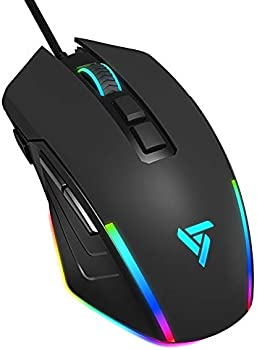 Vic Tech RGB 8000 Adjustable DPI Ergonomic Wired Gaming Mouse