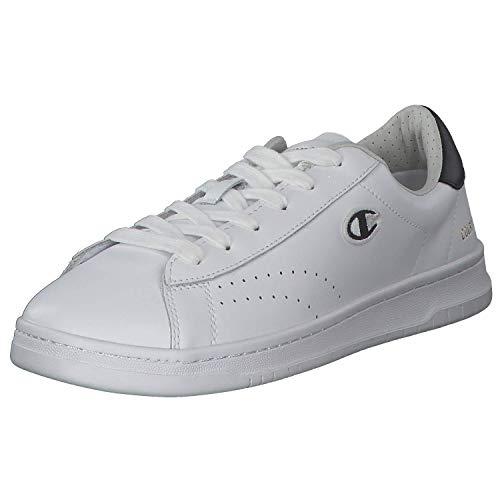 Champion Herren Low Cut Court Club Patch Sportschuhe Laufschuhe Freizeitschuhe Weiß versch. Größen S21363-WW006 Weiß (White) 40 EU