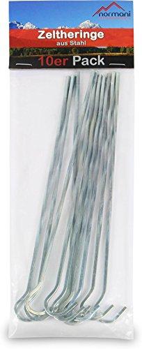 normani 50 Zeltheringe Erdanger 220 MM Lang aus verzinktem gehärtetem Stahl - Stabile Bodenanker für Unkrautvlies, Gartenvlies, Zaun & Camping
