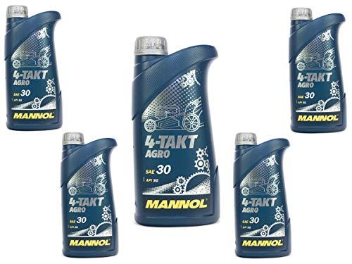 Motorenöl für 4-Takt Traktoren Rasenmäher Agro SAE 30 MANNOL API SG 5 Liter