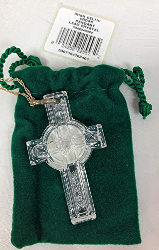 Waterford Crystal Celtic Cross Necklace with 20' Sterling Silver Chain