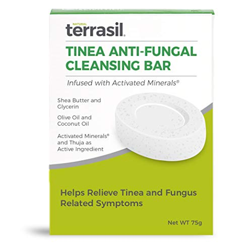 Tinea Soap for Tinea Versicolor Relief – Natural Anti-Fungal Medicated Cleansing Soap by Terrasil (75gm)