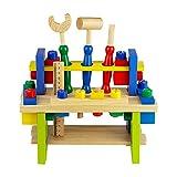 Nuheby Outils Enfant Jouet en Bois-Etablis Bricolage Enfant-Jeux d'Imitation Construction Jouet Fille Garçon 3 4 5 6 Ans