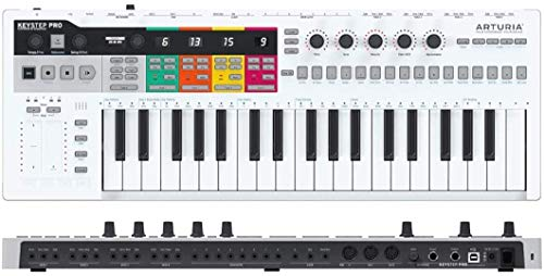 Arturia KeyStep Pro 37-Key Controller & Sequencer USB/MIDI/CV Keyboard Controller, with Aftertouch, 4 Polyphonic, 16-Track Drum Sequencer