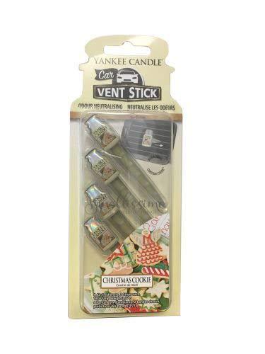 YANKEE CANDLE Ambientador para Coche en Barra para Las Rejillas de ventilación, Galletas de Navidad, Blue, 0.1x6.6x18.2 cm