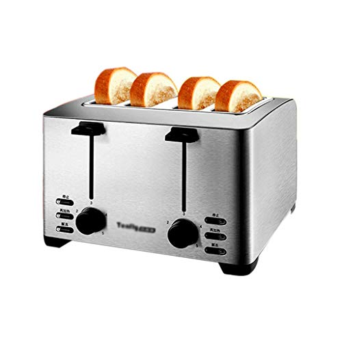 STRAW 4-Slice Toaster 丨Extra Wide Slots丨 Stainless Steel with High Lift Lever, Bagel and Muffin Function,