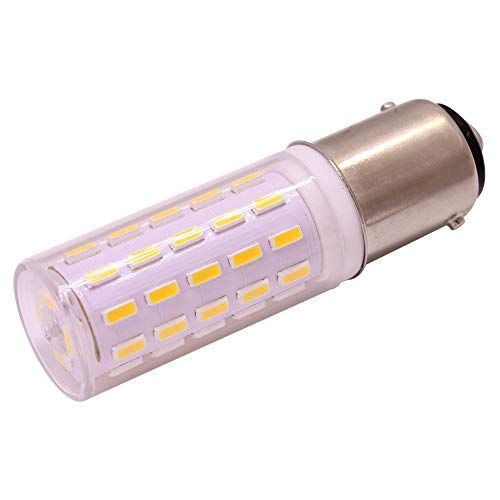 BA15D Led Light, Corn Type, 110-240V, 4W Replacement for 40 Watt, 330 Lumen, 360 Beam Angle, 2 Pack (White, Ba15D)