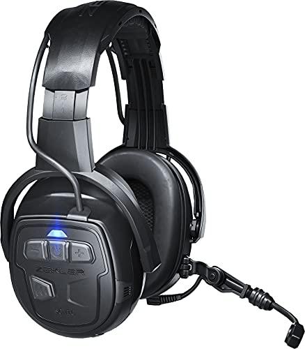 ZEKLER SONIC 550 Kapselgehörschutz mit integrierten Kopfhörern und Mikrofon   kabellos Musik hören & Telefonieren   Gehörschutz Ohrenschützer Lärmschutz