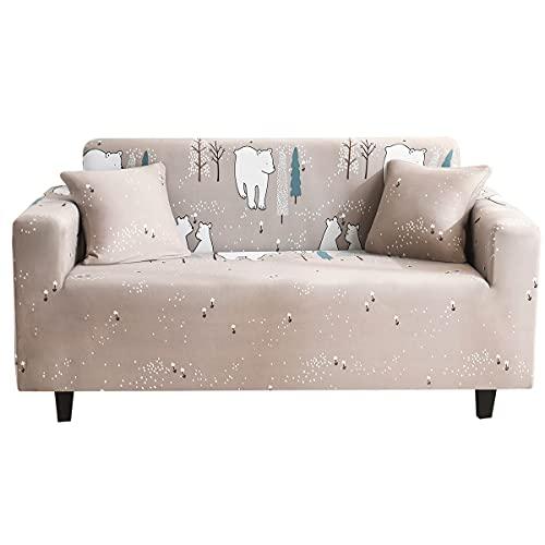 WXQY Moderno elástico Todo Incluido pequeña Flor Fresca Antideslizante Funda de sofá Funda Protectora de Muebles Funda de sofá A11 2 plazas