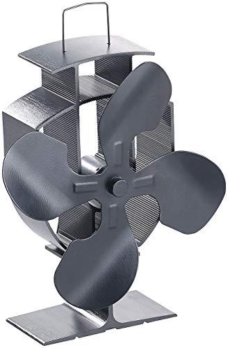 Carlo Milano Ofenventilator: Stromloser Kaminofen-Ventilator mit 4 Lüfter-Blättern, für 60-350 °C (Ventilator Kamin)