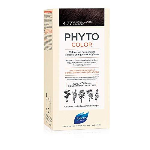 Phyto Phytocolor 4.77 Castano Marrone Intenso Colorazione Permanente senza Ammoniaca, 100 % Copertura Capelli Bianchi