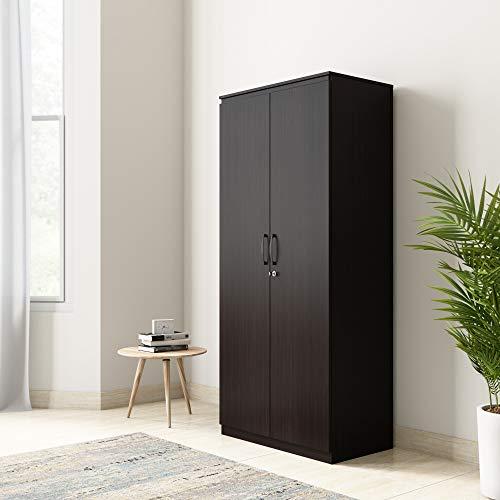Amazon Brand - Solimo Vega Engineered Wood 2 Door Wardrobe (Espresso Finish)