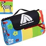 10T PicNic Zebra XL Picknickdecke 200x200 Kinder Fleece Decke wasserdichte & isolierte Stranddecke