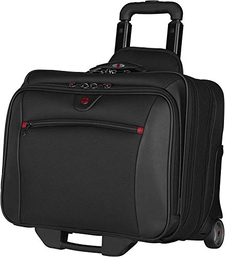 """Topline- Wenger 600661 Potomac17"""" Padded Laptop Compartment 2-Piece Business Wheeled Laptop Briefcase and Laptop case in Black"""