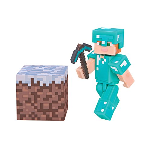 Minecraft Alex with Diamond Armor Figure Pack