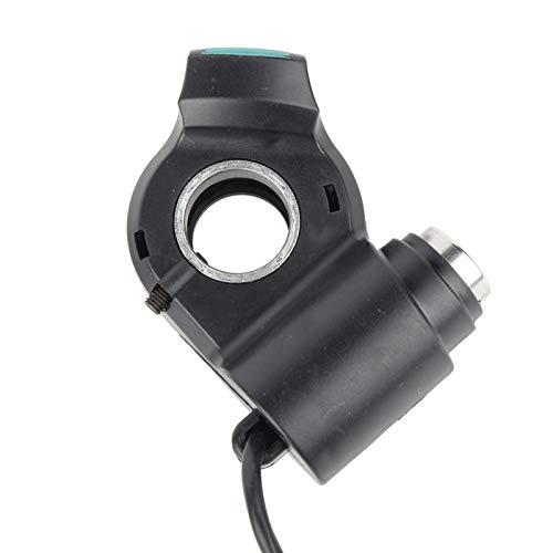 DAUERHAFT Verde retroiluminado, fácil de Instalar, identifica el Voltaje automáticamente con el Acelerador de Bicicleta eléctrica de Cable de 2 m / 6,56 pies, para Otros vehículos eléctricos de 12-99
