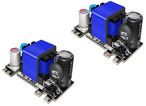 TECNOIOT 2 pieces AC-DC 5v 2000ma low-ripple switching step-down power supply modules