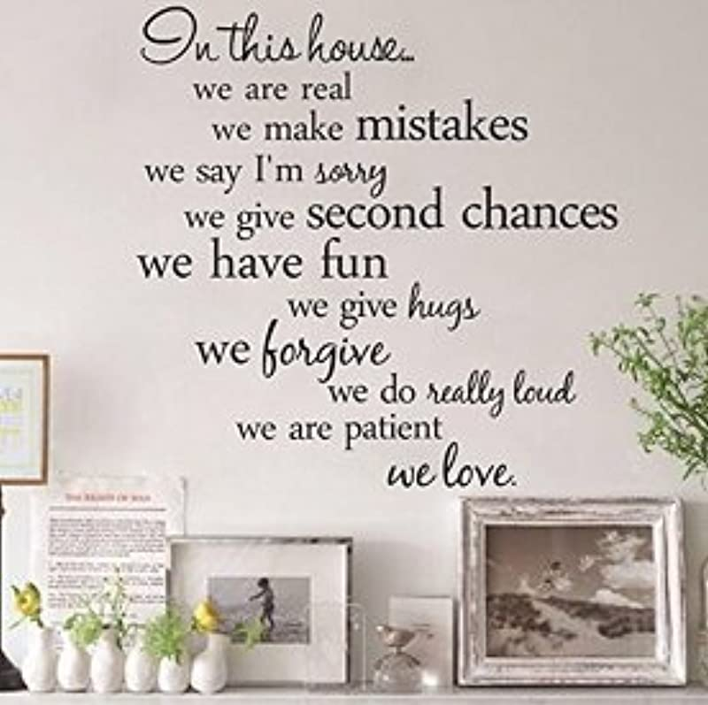Wall D Cor Stickers YYY In This House Quote Removable Art Sticker In This House