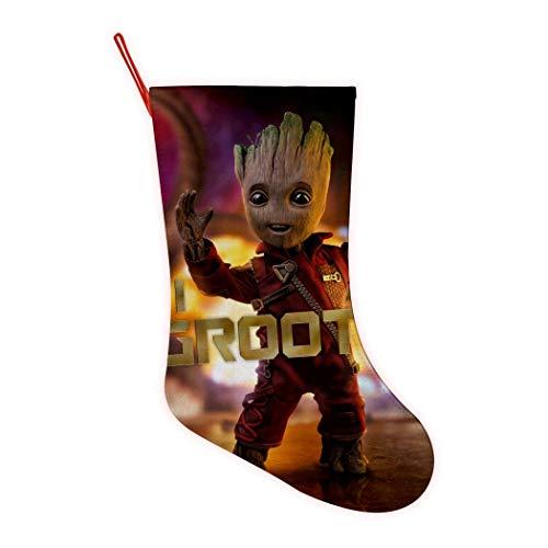 352 Guardianes de la Galaxia Bailando G-Root Lindos Medias de Navidad Personalizado Calcetín de Navidad para la Familia Vacaciones Decoraciones de Fiesta, Rojo, One_Size