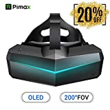 Pimax 5K XR OLED VR Virtual Reality Headset with Wide 200°FOV, Dual 2560x1440p OLED Panels & 6 DOF Tracking,...