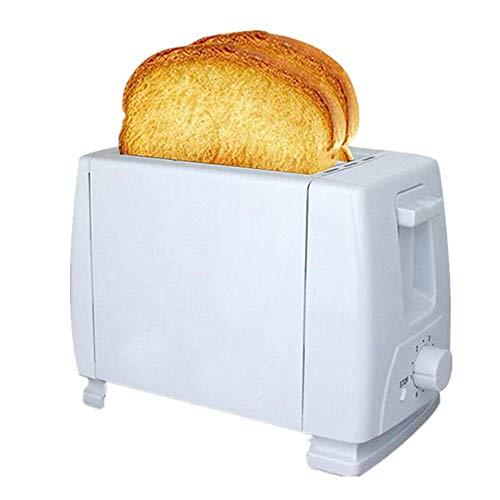 QHAI Tostadora eléctrica, 2 rebanadas Ranuras de Acero Inoxidable eléctrico automático tostadora del Pan, Herramienta de la Cocina del hogar automático Mini Desayuno Pan de la hornada