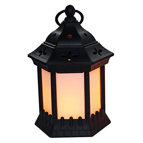 Xingyue - Lámpara LED para decoración de Halloween, diseño vintage de llama, luz de viento, portátil, para fiestas, decoración de fiestas