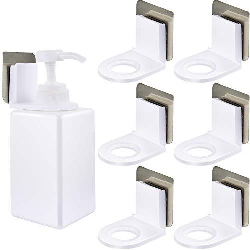 Shower Gel Bottle Rack Hook Self Adhesive Wall Mounted Shampoo Holder Hook Shower Gel Bottle Rack Hanger Liquid Soap Shower Holder for Wall Kitchen Bathroom Toilet 6 Pieces