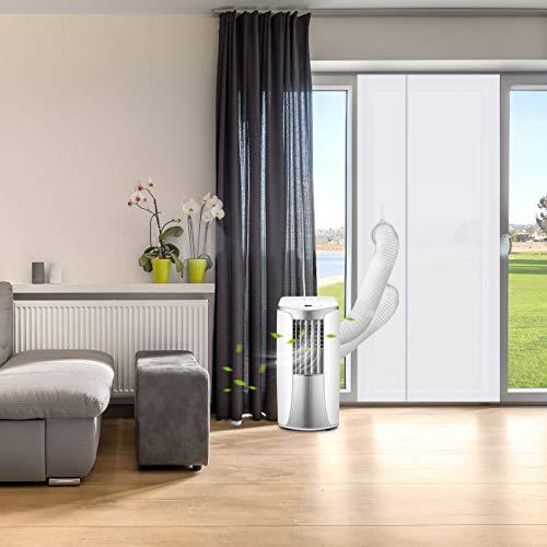LIHAO Tende a Rullo, Accessori e Parti per Condizionatori Portable per Finestre, Kit Isolamento Finestre Con zip-90x210 cm
