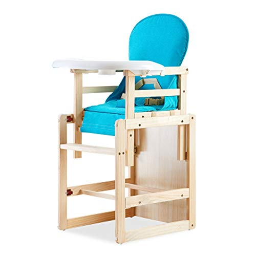New JLXJ High Chair for Babies and Toddlers, Wooden Space Saving Feeding Dining Highchairs, Baby Thr...