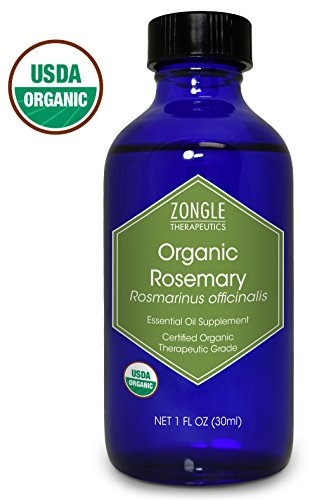 Zongle USDA Certified Organic Rosemary Essential Oil, Safe To Ingest, Rosmarinus Officinalis, 1...