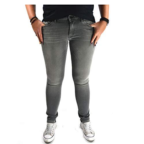 Replay dames broek Jeans LUZ HyperflexTM Skinny Fit denim grijs staplengte L32