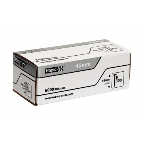 Rapid, 40100536, Pointes N°8, 45mm de longueur, 5000 pièces, Fil galvanisé, Haute performance
