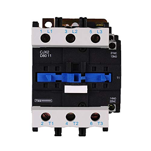 ETial CJX2-8011 Distribución de CA Contactor eléctrico 24V 50Hz / 60Hz Bobina 80A Trifásica 3 polos NO NC