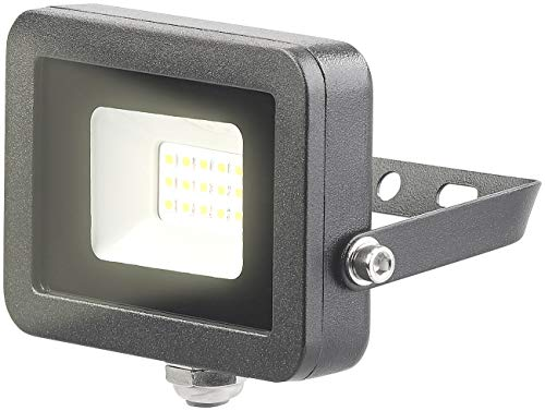 Luminea LED Scheinwerfer: Wetterfester Mini-LED-Fluter, 10 W, 800 lm, IP65, 3.000 K, warmweiß (LED Strahler Garten)