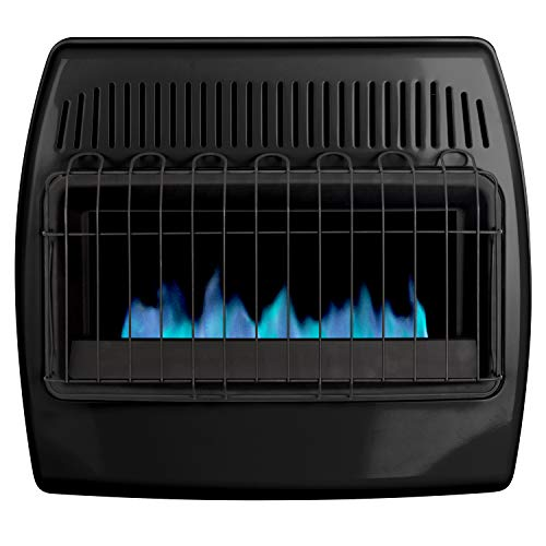 Dyna-Glo 30,000 BTU Blue Flame Thermostatic Garage Vent Free Wall Heater, Black