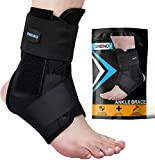 SNEINO Ankle Brace,Lace Up Ankle Brace for Women,Ankle Brace for Men,Ankle Brace Stabilizer,Ankle Brace for Sprained Ankle,Ankle Braces, Volleyball Ankle Braces,Ankle Supports for Women (Large)
