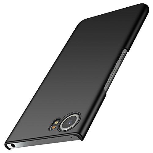 BlackBerry Keyone Hülle, Anccer [Serie Matte] Elastische Schockabsorption & Ultra Thin Design für Keyone (Glattes Schwarzes)