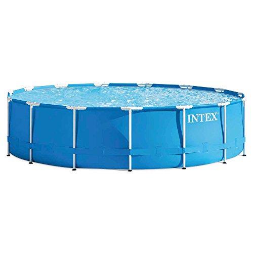 Intex Aufstellpool Frame Pool Set Rondo, Blau, Ø 457 x 107 cm