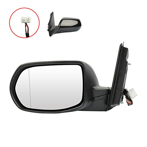 AUTOMUTO Black Rear- Vision Mirror Left Side View Mirror Heated Manual Folding Fits for 2012-2016 HONDA CR-V 76258T0AA21-PFM HO1320269