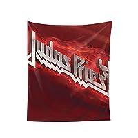 Judas Priest ジューダスプリー-1 おしゃれ 大判 壁掛け モダンなアート 布ポスター 多機能 耐久性 インテリア 寝室 カーテン 部屋 タペストリーオールシーズン