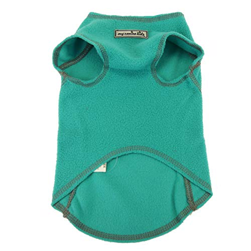 My Canine Kids Fleece Sweater Vest, Cool Weather Pullover, Spring and Fall Clothes for Dogs (XL up to 90 Lbs, Turquoise)(6500)