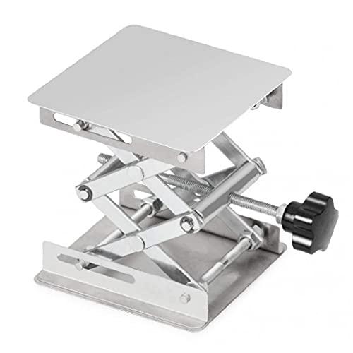 Tijeras de laboratorio Soporte de soporte de acero inoxidable Tabla de soporte 100x100mm Plataforma de carpintería MAX Altura 160 mm Accesorios de plata para hardware