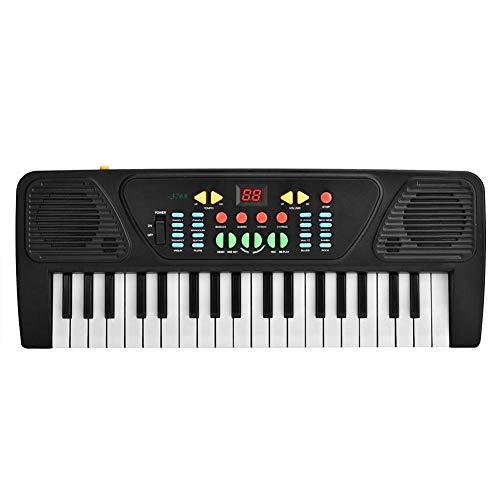 Teclado electrónico, exquisita mano de obra eléctrica Piano digital 37Key Piano eléctrico HD Sonido real ambiental para ejercitar su coordinación mano-ojo